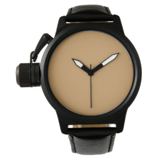 Style: Men's Crown Protector Black Leather Strap W Watch