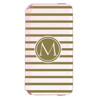Style Monogrammed with Woodbine Stripes Incipio Watson™ iPhone 6 Wallet Case