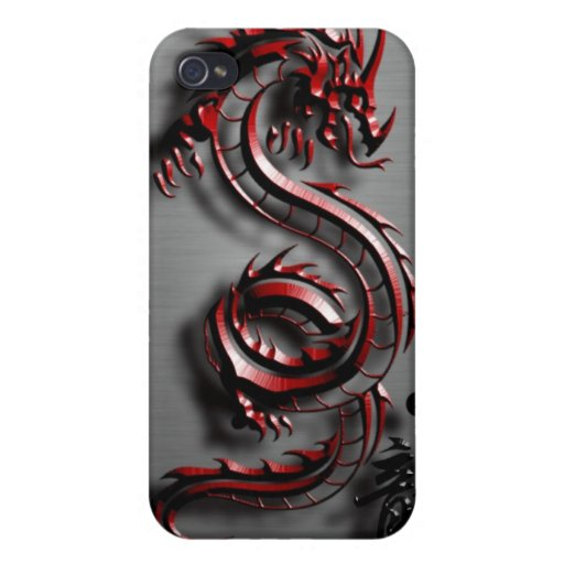 Style of the red dragon cover for iPhone 4
