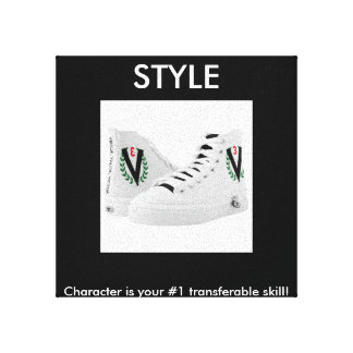 STYLE PICTURE OF TENNIS SHOES! CANVAS PRINT