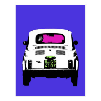 style pop art Fiat 500 in Rome Postcard