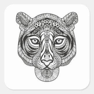 Style Tiger Square Sticker