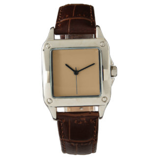 Style: Women's Perfect Square Brown Leather Strap Watch