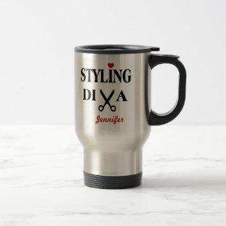 Styling Diva Scissors and Heart Travel Mug