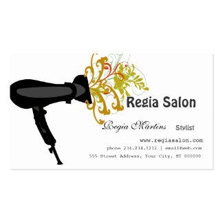 Styling Salon Hair Dryer  Beauticians Pack Of Standard Business Cards