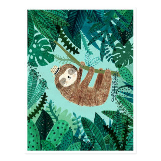 Styling Sloth Postcard