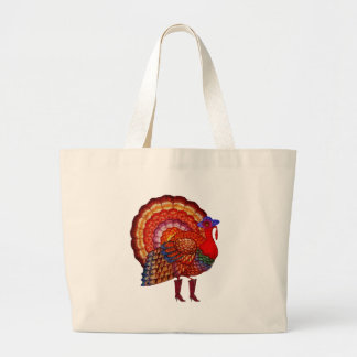 Styling Turkey Large Tote Bag