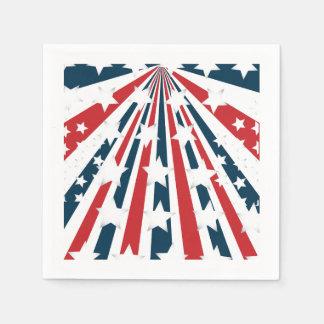 Stylised American Flag Paper Napkins Disposable Serviette