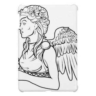Stylised angel woman illustration cases for iPad mini