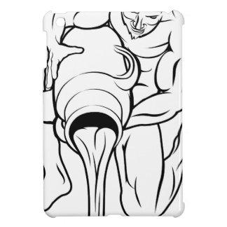 Stylised aquarius water bearer illustration iPad mini case