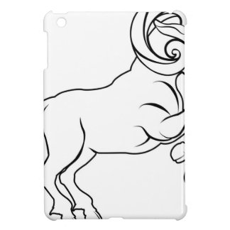 Stylised aries ram illustration covers for iPad mini