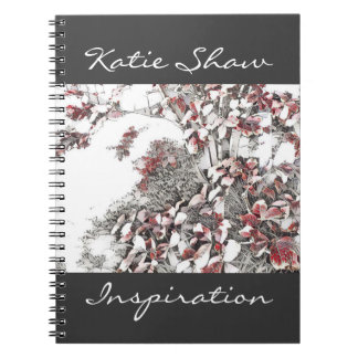 Stylised Autumn Leaves Spiral Note Books