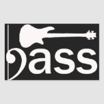 Stylised Bass Guitar Sticker