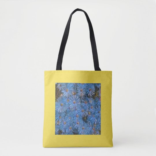 Stylised Blue Flowers Painting Tote Bag