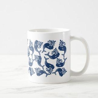 Stylised Blue Whales Coffee Mug