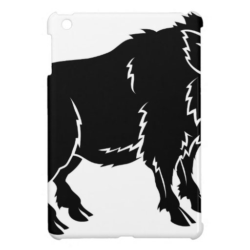 Stylised boar illustration covers for iPad mini