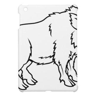 Stylised boar illustration iPad mini cases
