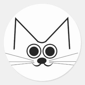 Stylised Cat Classic Round Sticker