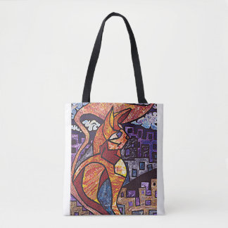 Stylised Cat Tote Bag