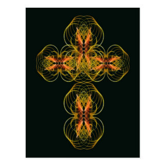 Stylised Celtic Cross Postcard