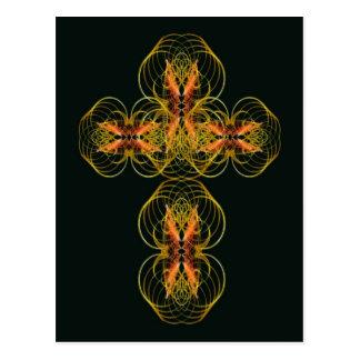 Stylised Celtic Cross Post Card