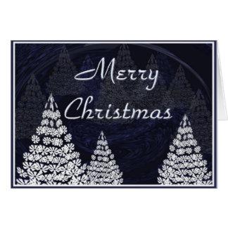 Stylised Christmas trees Greeting Card