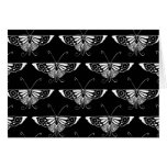 Stylised Deco butterfly  - black and white Note Card