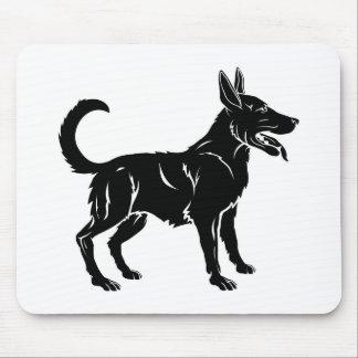 Stylised dog illustration mouse mat