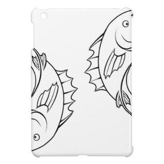 Stylised fish illustration iPad mini covers