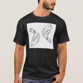 Stylised fish illustration T-Shirt
