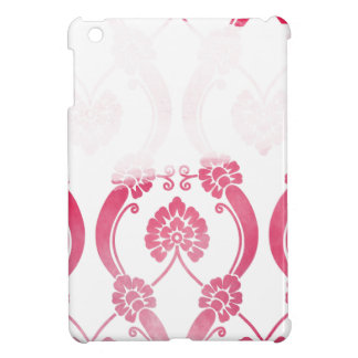 Stylised Flower Pattern in Pinks iPad Mini Cover