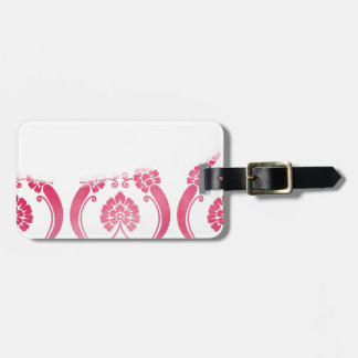 Stylised Flower Pattern in Pinks Luggage Tag