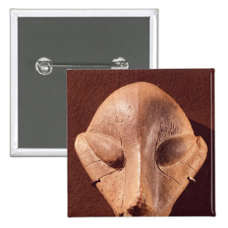 Stylised head, from Predionica 15 Cm Square Badge