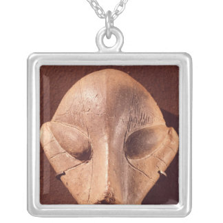 Stylised head, from Predionica Silver Plated Necklace