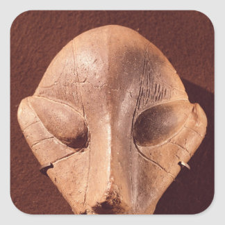 Stylised head, from Predionica Square Sticker