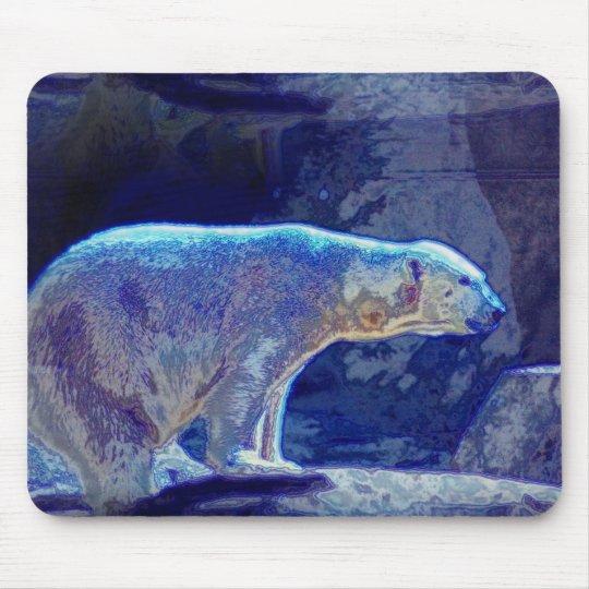 Stylised Polar Bear Mouse Mat