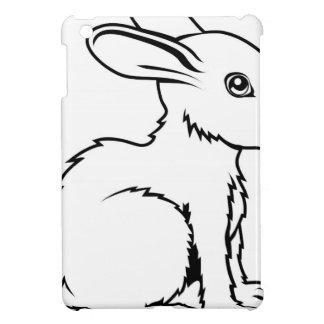 Stylised rabbit illustration iPad mini cases