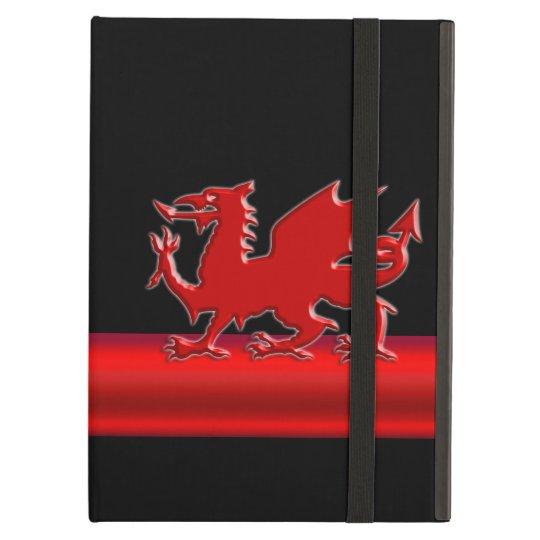 Stylised Red Welsh Dragon, red metallic look strip