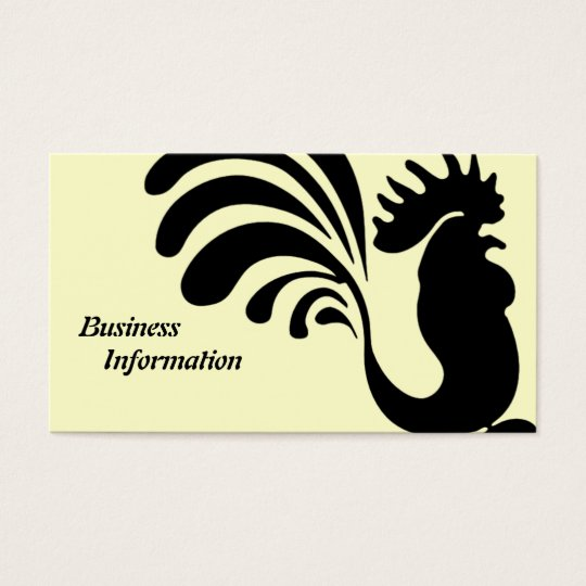 Stylised Rooster Business Cards