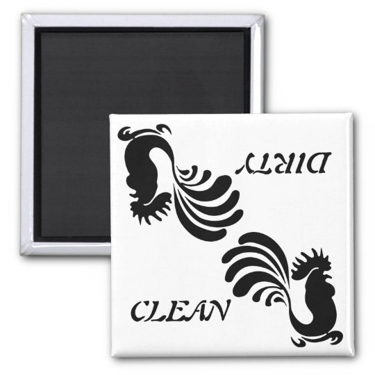 "Stylised Rooster ""Clean/Dirty"" Dish Washer Magnet"