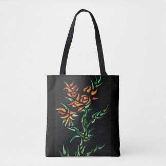 Stylised Rose Tote Bag