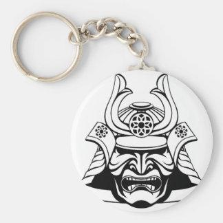 Stylised Samurai Mask Key Ring