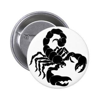 Stylised Scorpion illustration 6 Cm Round Badge
