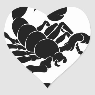 Stylised Scorpion illustration Heart Sticker