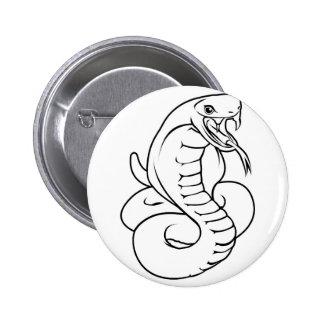 Stylised snake illustration 6 cm round badge