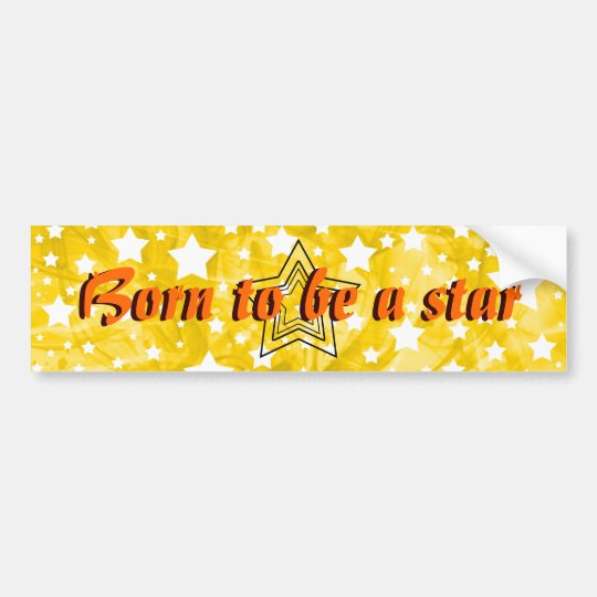 Stylised Star Bumper Sticker