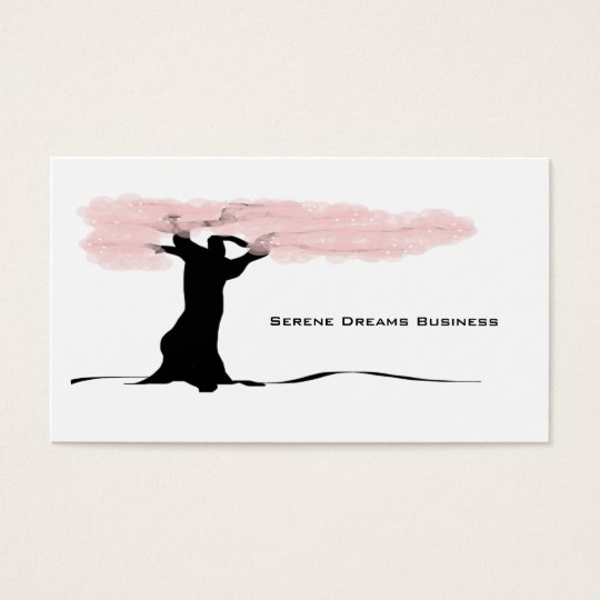Stylised Tree Blossoms Business Card