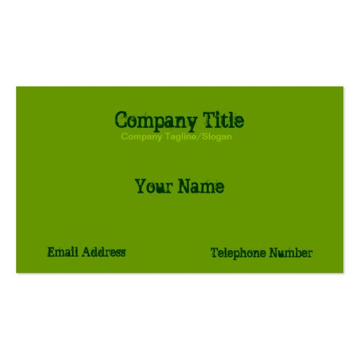 Stylised Tree Business Card