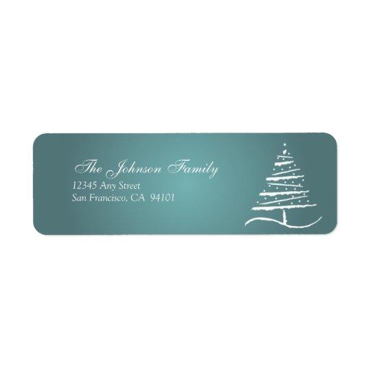 Stylised Tree Holiday Address Labels (slate blue)
