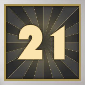 Stylish 21st Birthday Poster